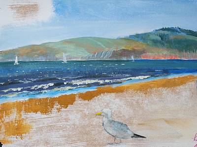 Mixed Media - Sandy Bay Exmouth Beach by Mike Jory