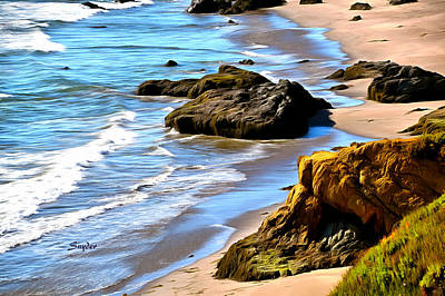 Photograph - Sandy Beach At Big Sur by Barbara Snyder