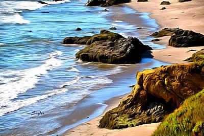 Photograph - Sandy Beach At Big Sur by Barbara Snyder