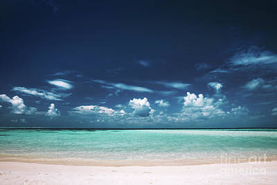Photograph - Sandy Beach, Clear See-through Sea And Blue Sky. by Michal Bednarek