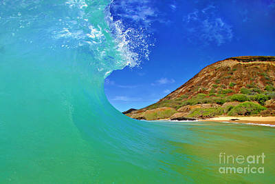 Photograph - Sandy Beach Curl by Paul Topp
