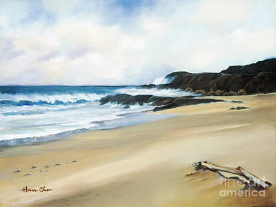 Painting - Sandy Beach by Han Choi - Printscapes