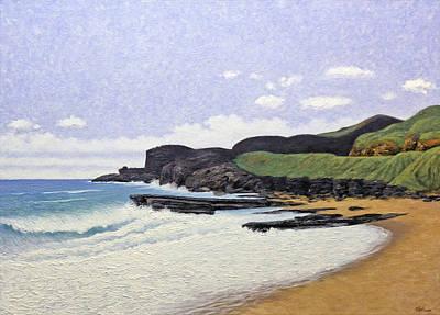 Sandy Beach Oahu Art Print by Norman Engel
