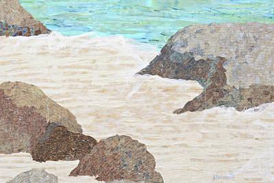 Tapestry - Textile - Sandy Beach by Pauline Barrett