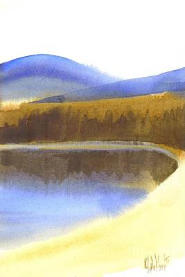 Sandy Blue Dusky Mountain Lake Art Print by Kip DeVore