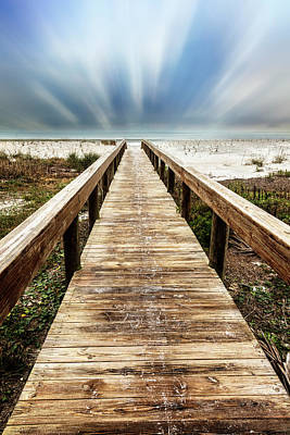 Photograph - Sandy Boardwalk On The Dunes Dreamscape by Debra and Dave Vanderlaan