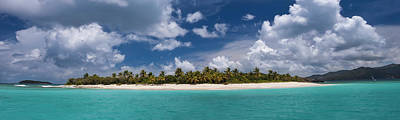 Palm Tree Photograph - Sandy Cay Beach British Virgin Islands Panoramic by Adam Romanowicz
