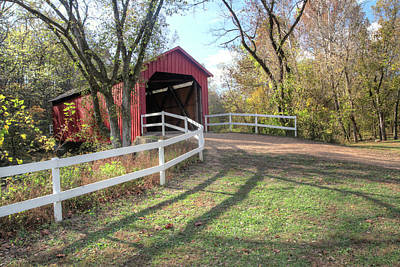 Photograph - Sandy Creek Covered Bridge by Harold Rau