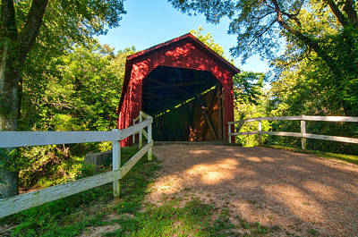 Photograph - Sandy Creek Covered Bridge by Steve Stuller