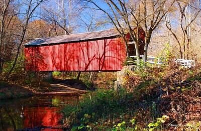 Photograph - Sandy Creek Covered Bridge by Steve Warnstaff