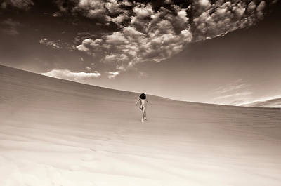 Photograph - Sandy Dune Nude - Love Catch by Amyn Nasser