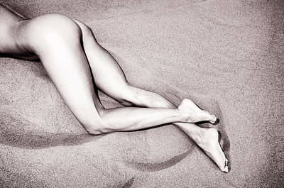 Photograph - Sandy Dune Nude - The Cross by Amyn Nasser