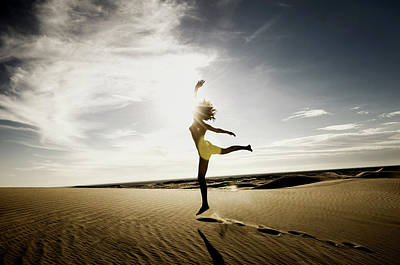 Photograph - Sandy Dune Nude - The Dance by Amyn Nasser