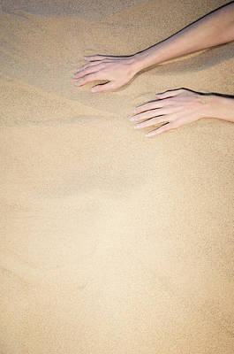 Photograph - Sandy Dune Nude - The Fingers by Amyn Nasser