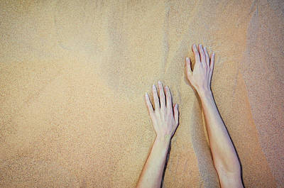 Photograph - Sandy Dune Nude - The Hands by Amyn Nasser