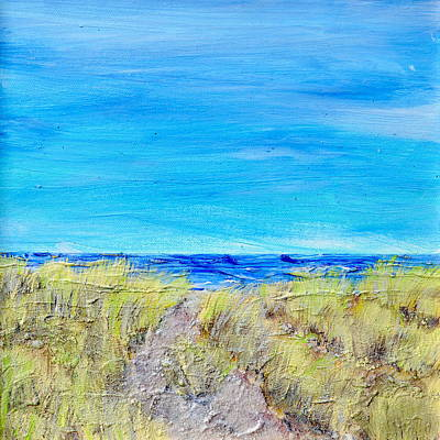 Hamptons Mixed Media - Sandy Dunes by Regina Valluzzi