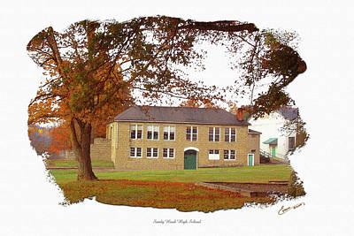 Sandy Hook Digital Art - Sandy Hook High School East View by Randall Evans