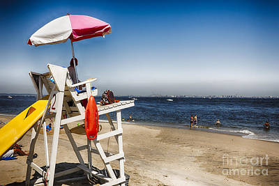 Monmouth County Photograph - Sandy Hook Lifeguard Station by George Oze