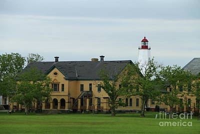Photograph - Sandy Hook Lighthouse And Fort Hancock by Christiane Schulze Art And Photography