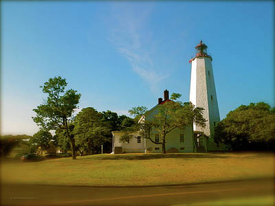 Print featuring the photograph Sandy Hook Lighthouse by Iconic Images Art Gallery David Pucciarelli