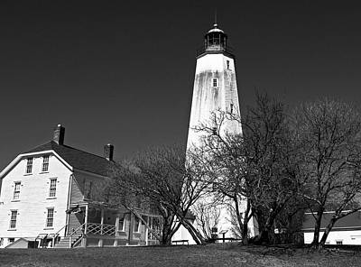 Photograph - Sandy Hook Lighthouse New Jersey by Elsa Marie Santoro