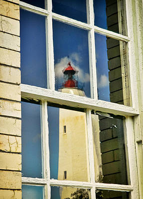 Photograph - Sandy Hook Lighthouse Reflection by Gary Slawsky