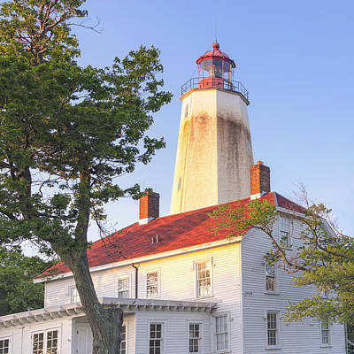 Photograph - Sandy Hook Lighthouse Square by Marianne Campolongo