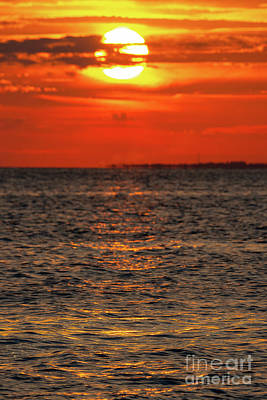 Photograph - Sandy Hook Sunset  by Michael Ver Sprill