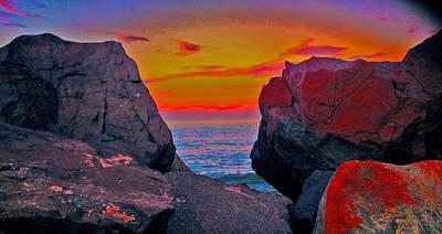 Sandy Hook Digital Art - Sandy Hook Sunset2 by Linnea Tober