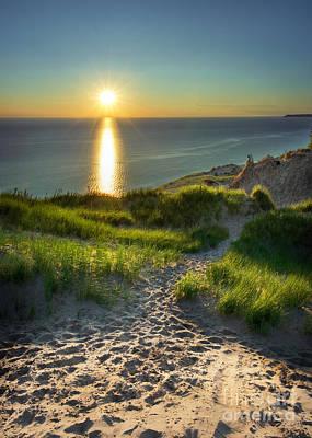 Photograph - Sandy Path To Lake Michigan by Karen Jorstad