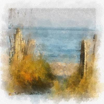 Sand Fences Mixed Media - Sandy Path To The Beach by Clive Littin