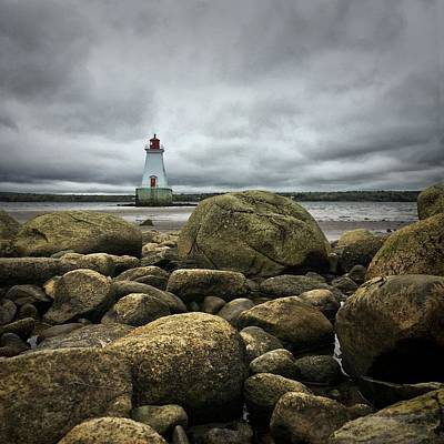 Nova Scotia Wall Art - Photograph - Sandy Point Lighthouse by Christine Sharp