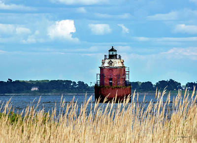 Photograph - Sandy Pt Shoal Lighthouse - Restoration by Brian Wallace