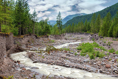 Photograph - Sandy River In Mount Hood National Forest by Jit Lim