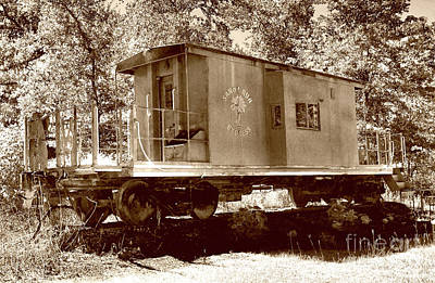 Photograph - Sandi Run Express In Sepia by Skip Willits