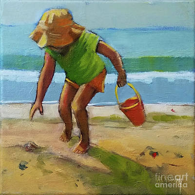 Painting - Sandy Seashell by Mary Hubley