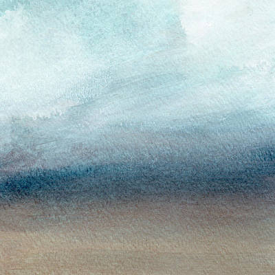 Abstract Landscape Painting - Sandy Shore- Art By Linda Woods by Linda Woods