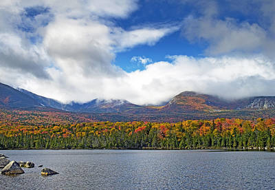 Sandy Stream Pond In Baxter State Park Maine Fall Art Print