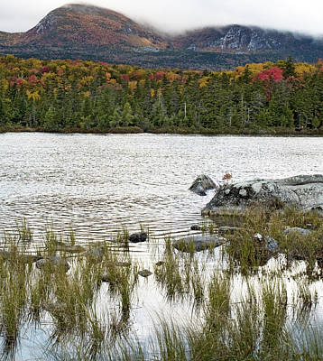 Sandy Stream Pond View Of Baxter Peak In Baxter State Park Maine Art Print by Brendan Reals