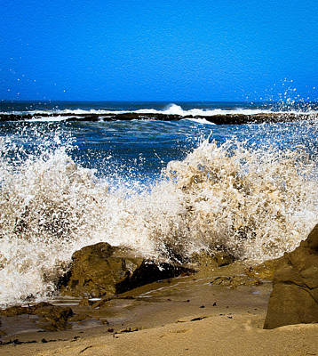 Photograph - Sandy Surf Splash by Bonnie Follett