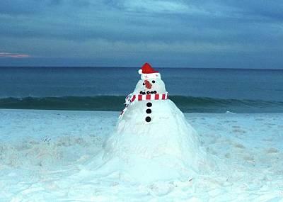 Photograph - Sandy The Snowman by Cindy Croal