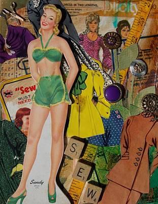 Mixed Media - Sandy by Virginia Coyle