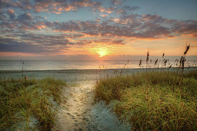 Photograph - Sandy Walk At The Dunes by Debra and Dave Vanderlaan