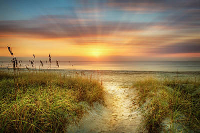 Photograph - Sandy Walk At The Dunes Dreamscape by Debra and Dave Vanderlaan