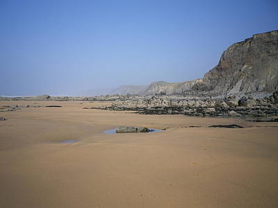 Photograph - Sandymouth Beach From Menachurch Point Cornwall by Richard Brookes