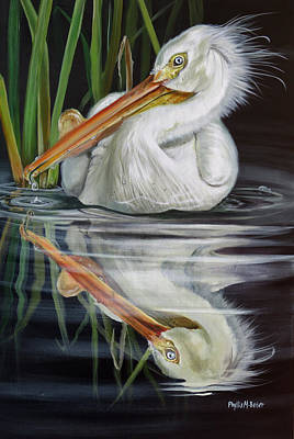 Painting - Sandy's Pelican by Phyllis Beiser