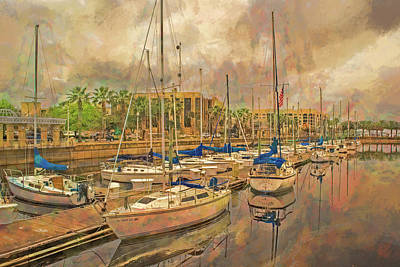 Art Print featuring the photograph Sanford Sailboats by Lewis Mann