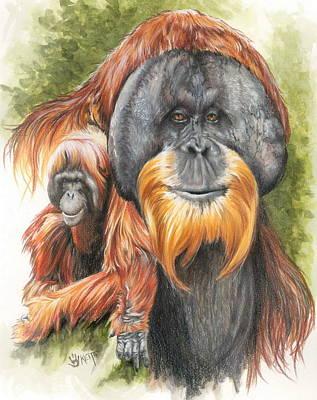 Orangutan Mixed Media - Sang-froid by Barbara Keith