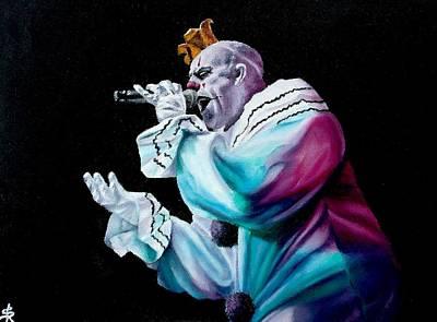 Sad Clown Painting - Sang by SarahjewelAZ SarahjewelAZ