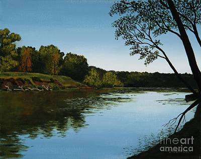 Painting - Sangamon Solitude by Billinda Brandli DeVillez